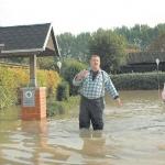 Hochwasser 2007 - Kolonoie an der Innerste