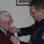 Ehrung des ältesten lebenden Kameraden Josef Gabel für 70 Jahre Mitgliedschaft