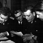 Werner Hübener (rechts) und Walter Achilles (links daneben)
