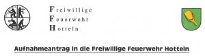 Download Aufnahmeantrag FF Hotteln