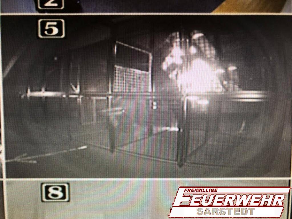 Bild der Wärmebildkamera aus dem Kontrollraum in den Käfig